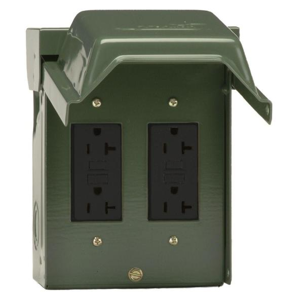 2-20 Amp Backyard Outlet with GFCI Receptacles