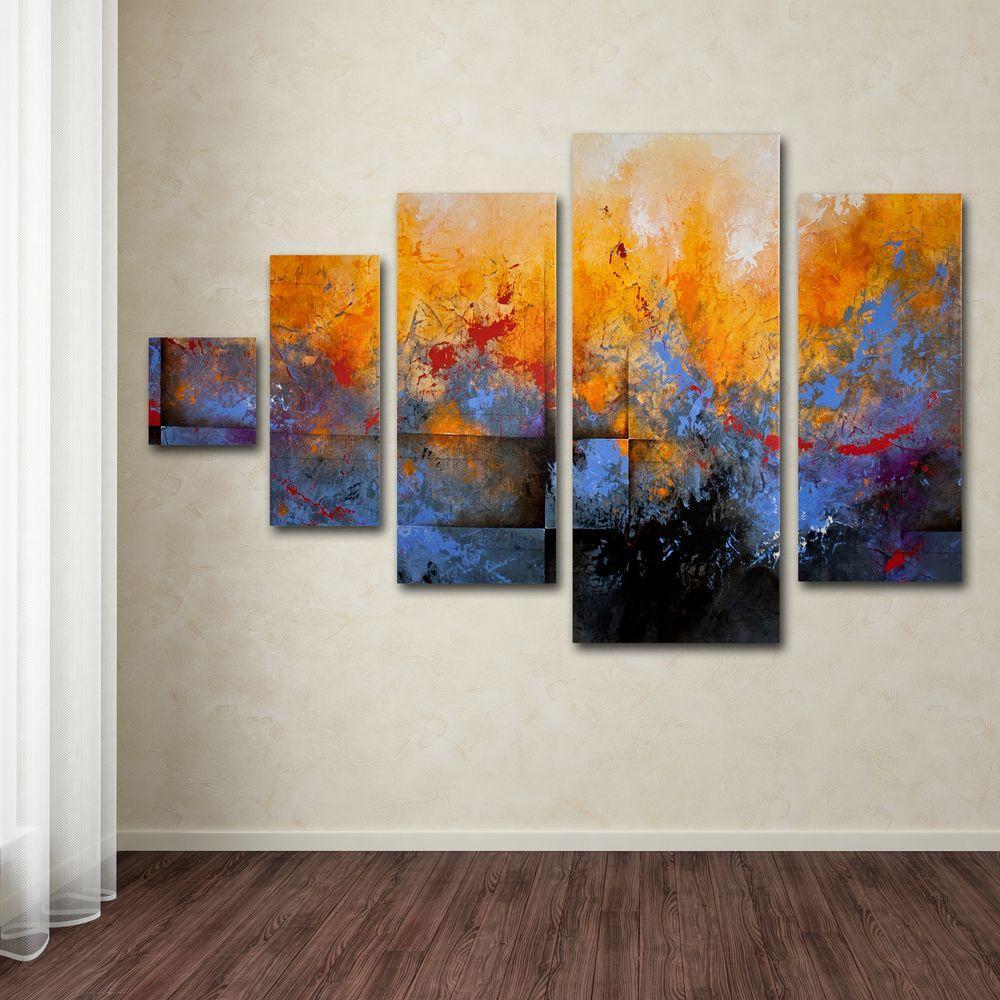 Great Trademark Fine Art My Sanctuary By CH Studios 5 Panel Wall Art Set