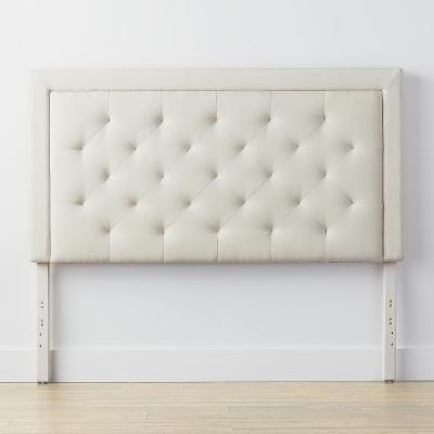 Upholstered Cream Queen Headboard with Diamond Tufting