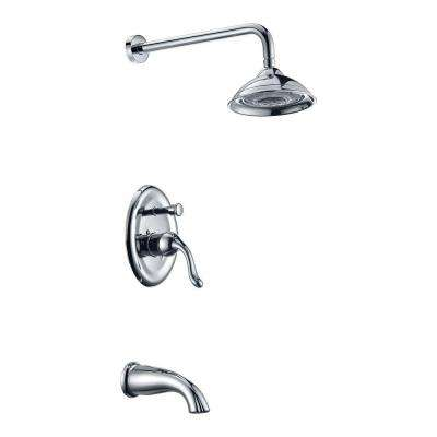 Assai Series 1-Handle 5-Spray Tub and Shower Faucet in Polished Chrome (Valve Included)