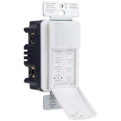 Single Pole 150-Degree Sensor Wall Motion Activated Timer Simple-Set, White
