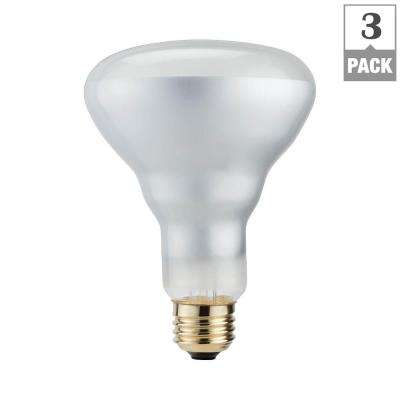 65-Watt Equivalent BR30 Halogen Dimmable Flood Light Bulb (3-Pack)