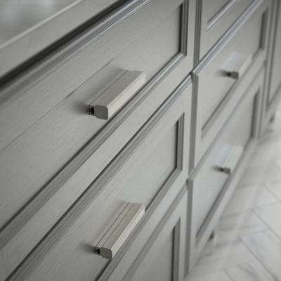 Tapered Edge 1 in. to 4 in. (25 mm to 102 mm) Satin Nickel Adjustable Drawer Pull