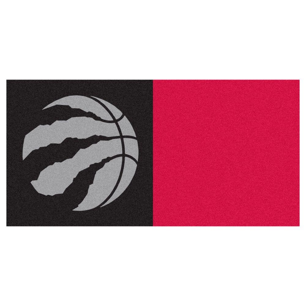 NBA Toronto Raptors Black and Red Pattern 18 in. x 18