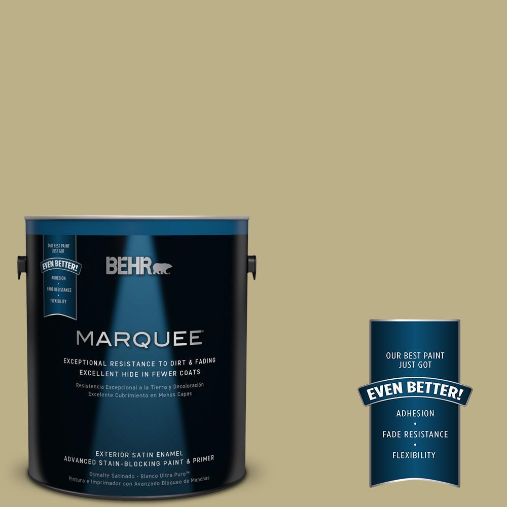 BEHR MARQUEE 1-gal. #390F-5 Ryegrass Satin Enamel Exterior Paint