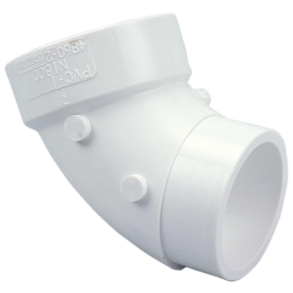 2 in. PVC DWV 90-Degree Spigot x Hub Street Elbow