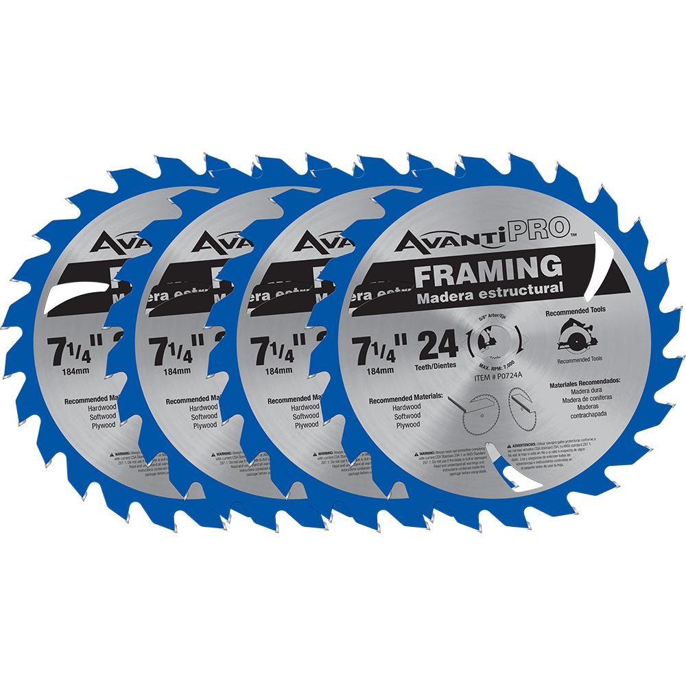 7 1 4 Circular Saw Blades The Home Depot Wiring Diagram For Craftsman In X 24 Teeth Framing Blade
