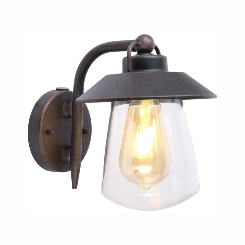 Home Decorators Collection Led Small Exterior Wall Light: Home Decorators Collection 1-Light Rust Outdoor Small Wall