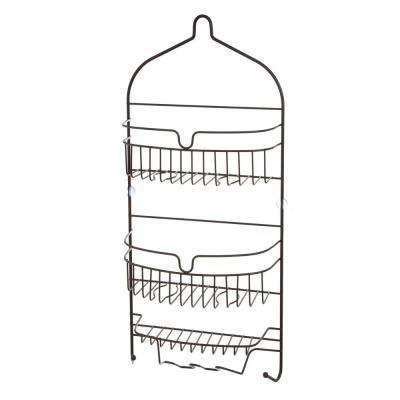 Oil Rubbed Bronze 3-Shelf Hanging Shower Caddy