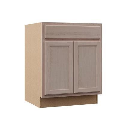 Hampton Assembled 27x34.5x24 in. Base Cabinet in Unfinished Beech