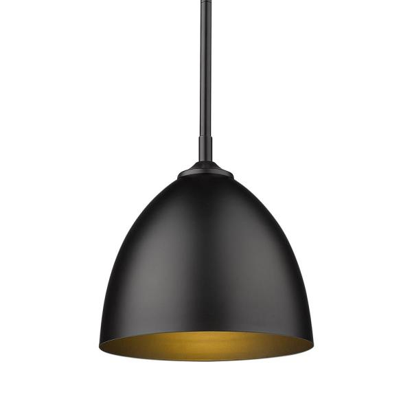 Zoey 1-Light Matte Black Standard Pendant