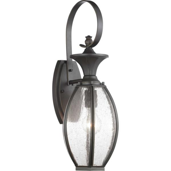 River Place Collection 1-Light Antique Bronze Wall Lantern Sconce