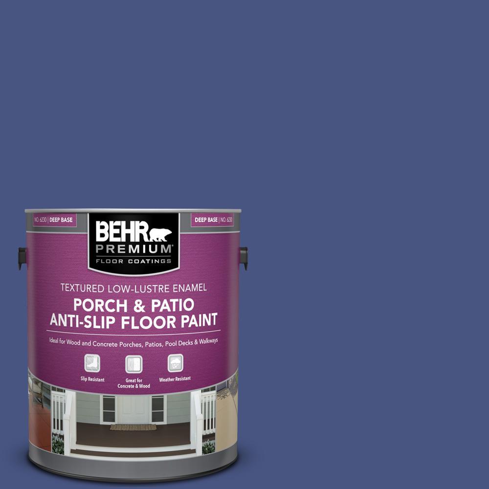 Behr Premium 1 Gal Ppu15 02 Mozart Textured Low Lustre Enamel Interior Exterior Porch And Patio Anti Slip Floor Paint 623001 The Home Depot