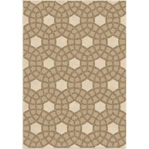 Click here to buy Orian Rugs Chainlink Fence Beige 5 ft. 2 inch x 7 ft. 6 inch Indoor/Outdoor Area Rug by Orian Rugs.