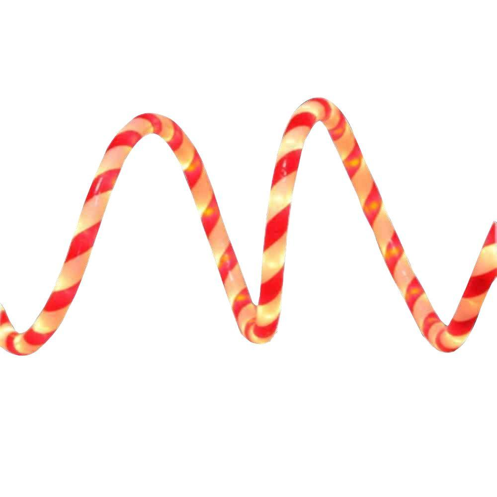 Home Accents Holiday 18 ft. Red and White Candy Cane Rope Light Kit