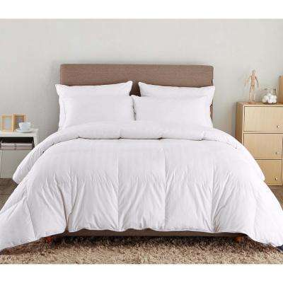 500 Thread Count Down Comforter Twin in White