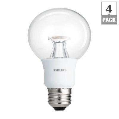 40W Equivalent Soft White Clear G25 Dimmable LED with Warm Glow Light Effect Light Bulb (4-Pack)