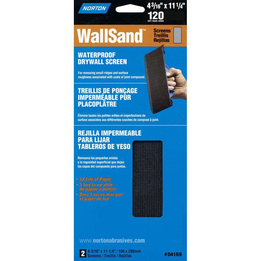 Norton WallSand 4-3/16 in. x 11-1/4 in. 120-Grit Drywall Sanding Screen