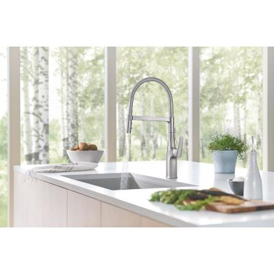 Rivana Single-Handle Semi-Pro Standard Kitchen Faucet in Stainless