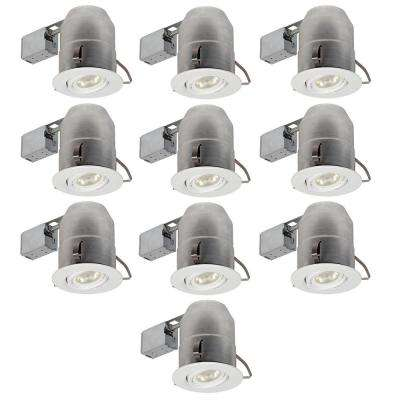 6 in. White Round Recessed Lighting Kit (10-Pack)