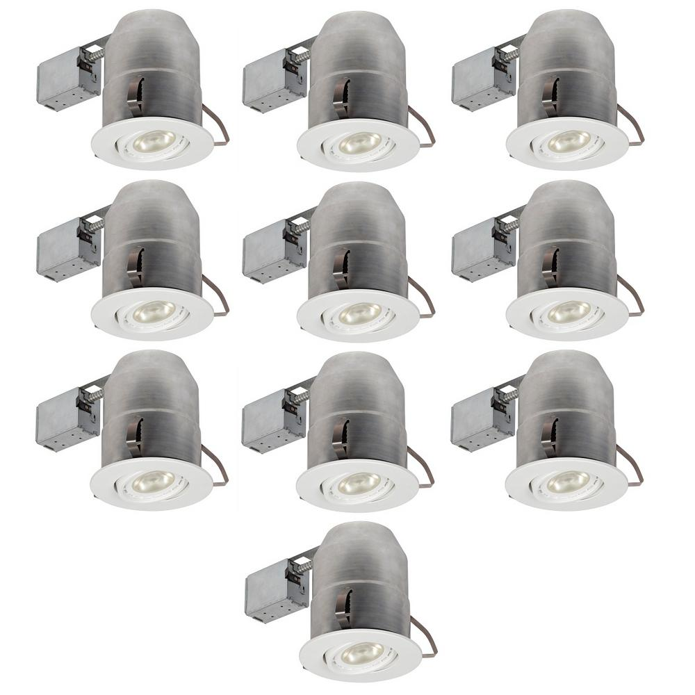 Globe Electric 6 In White Round Recessed Lighting Kit 10 Pack