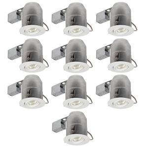 Globe Electric 6 inch White Round Recessed Lighting Kit (10-Pack) by Globe Electric