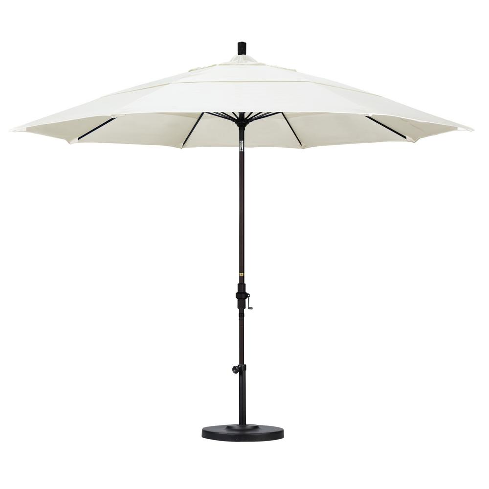 California Umbrella 11 ft. Fiberglass Collar Tilt Double Vented Patio Umbrella in Canvas Pacifica