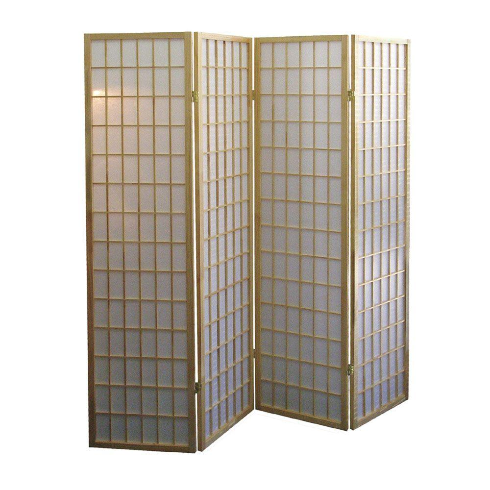 Home decorators collection ft natural 4 panel room for Home dividers