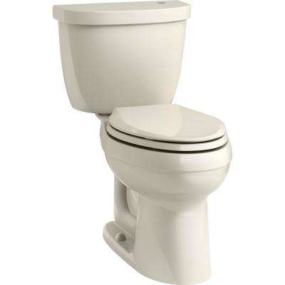 Cimarron Touchless Comfort Height 2-Piece 1.28 GPF Single Flush Elongated Toilet in Almond, Seat Not Included