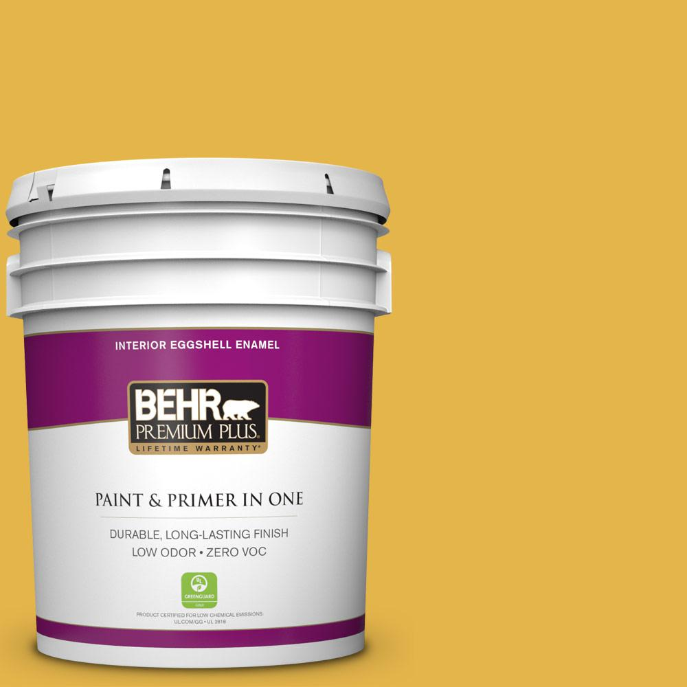 5 gal. #360D-6 Yellow Gold Zero VOC Eggshell Enamel Interior Paint