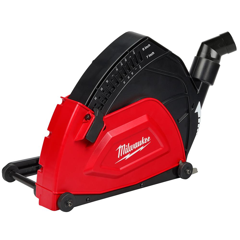 Milwaukee 7 In To 9 In Large Angle Grinder Cutting Dust Shroud 49 40 6120 The Home Depot