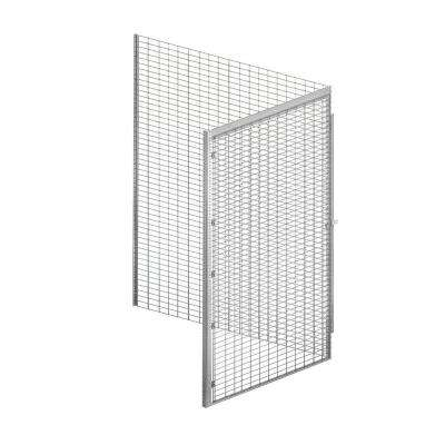8100 Series 48 in. W x 90 in. H x 60 in. D 1-Tier Bulk Storage Locker Add-On in Aluminum