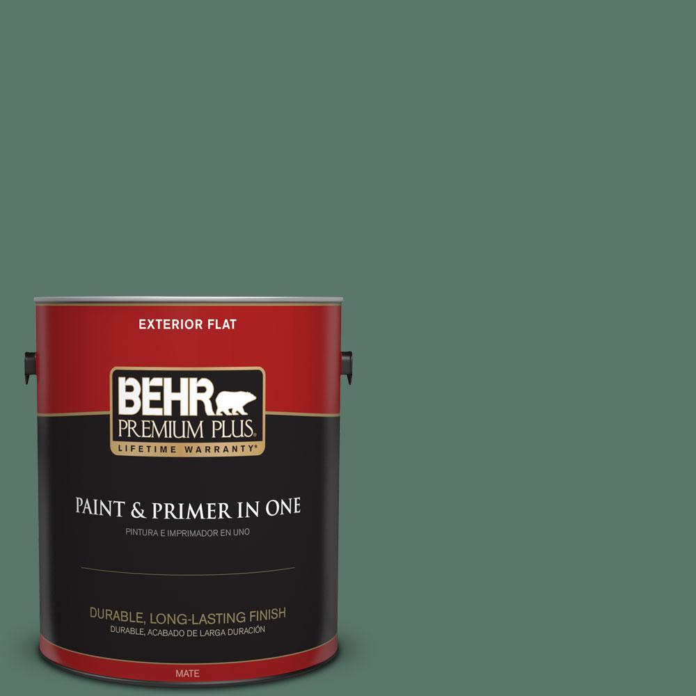 1-gal. #S420-6 Pine Brook Flat Exterior Paint
