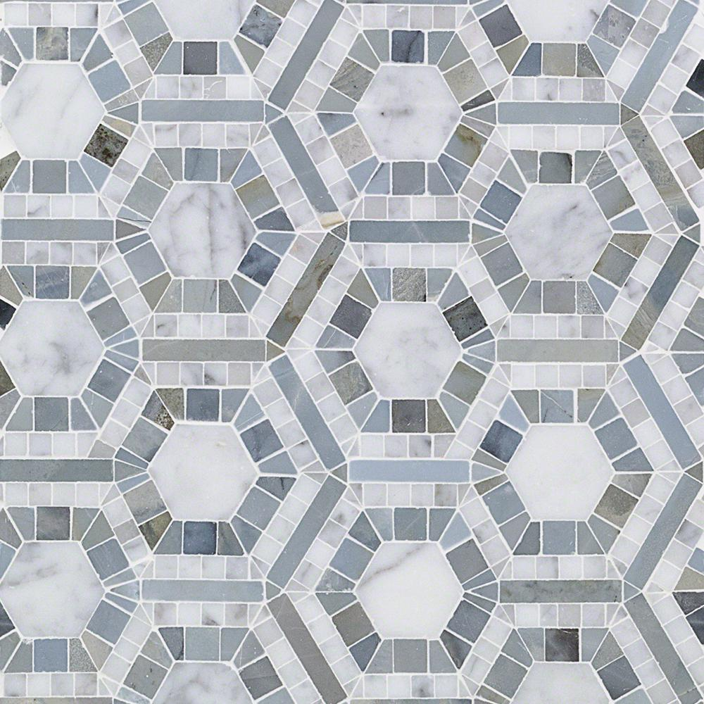 Ivy Hill Tile Kosmos Carrera And Moonstone Hexagon 11 3 4 In X