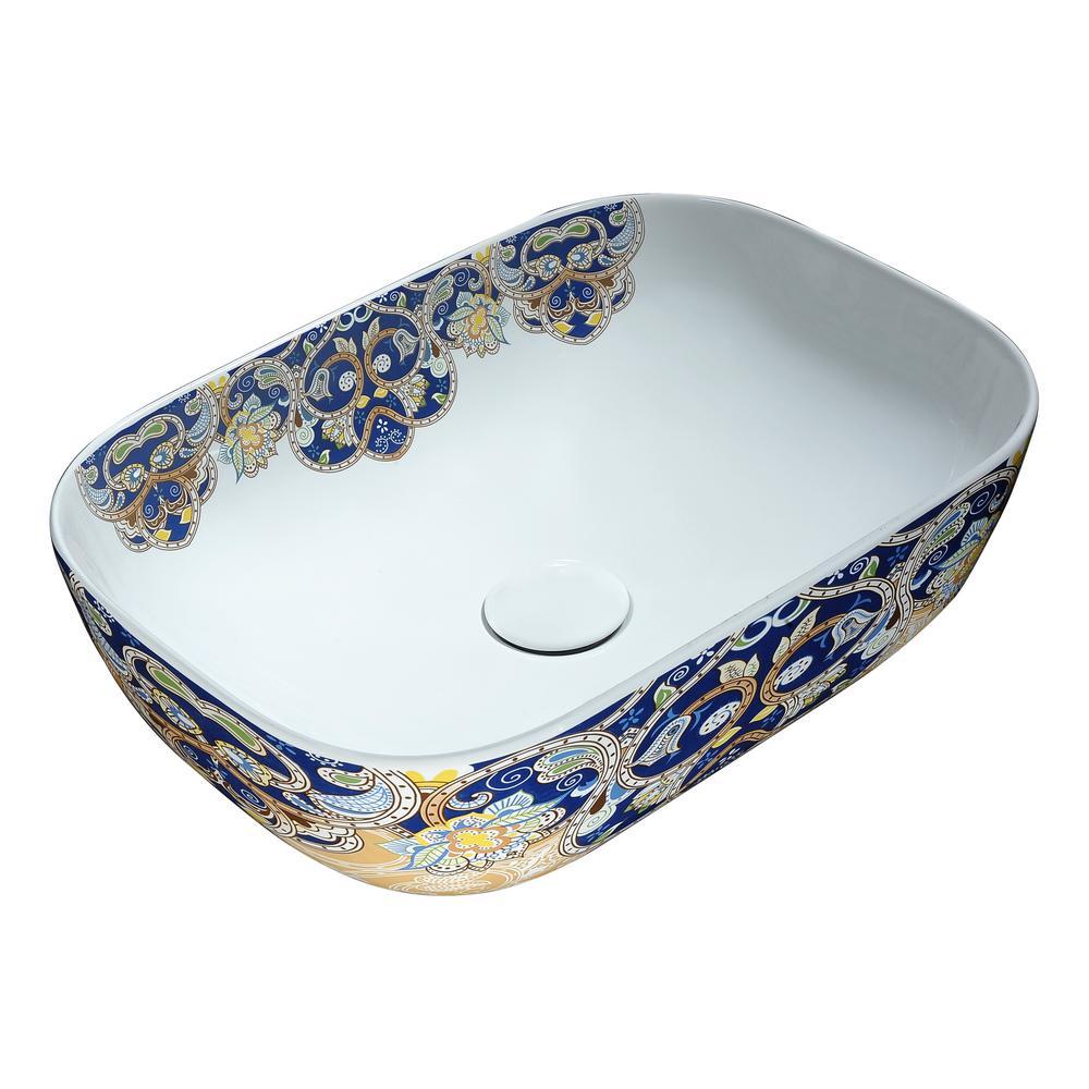 Awesome ANZZI Ceramic Vessel Sink In Byzantine Mosaic