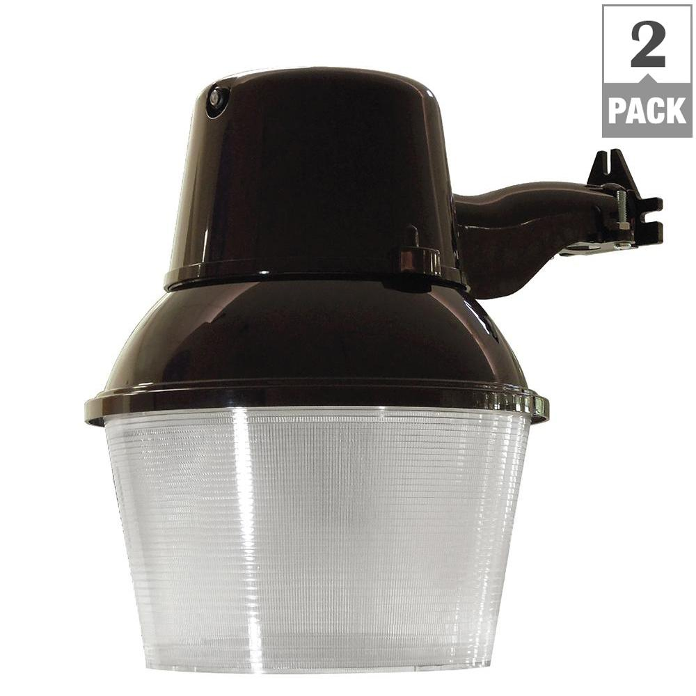 FEIT 38-Watt Bronze Outdoor LED 9.5 in. Wall/Post Mount S...