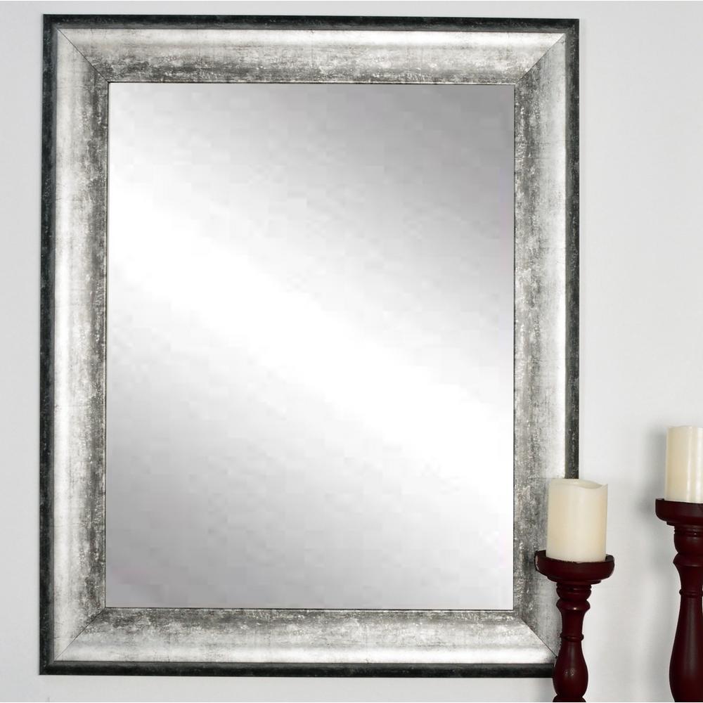 Brandtworks Kingston Silver Decorative Framed Wall Mirror
