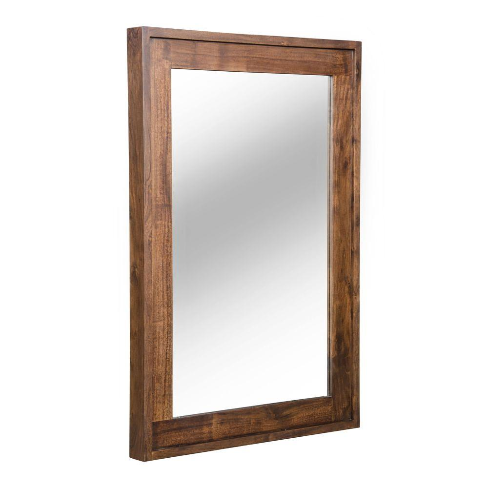 ZUO Oaktown 40 in. x 24 in. Distressed Walnut Mirror