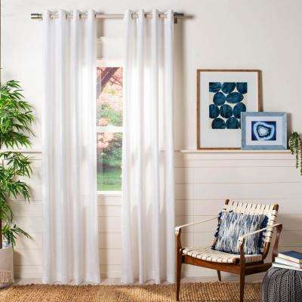 Darlena 52 in. W x 96 in. L Window Panel in Pearl
