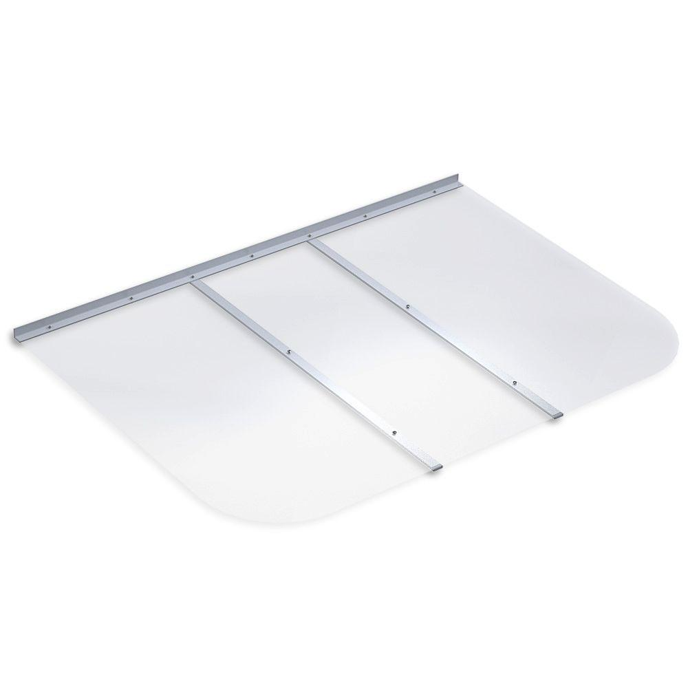 53 in. x 37 in. Rectangular Clear Polycarbonate Window Well Cover