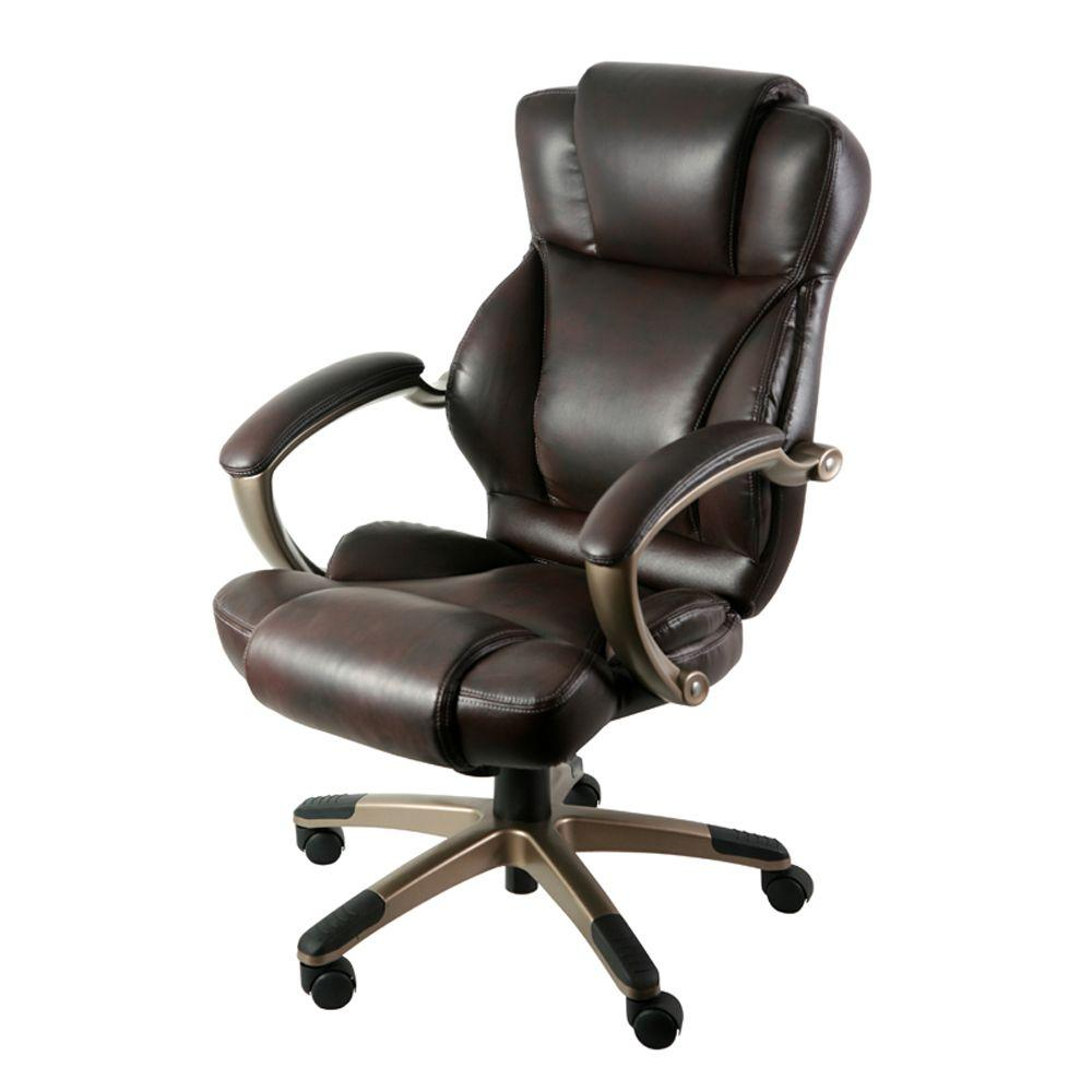 Z Line Designs Brown Leather Executive Office Chair Zl5010