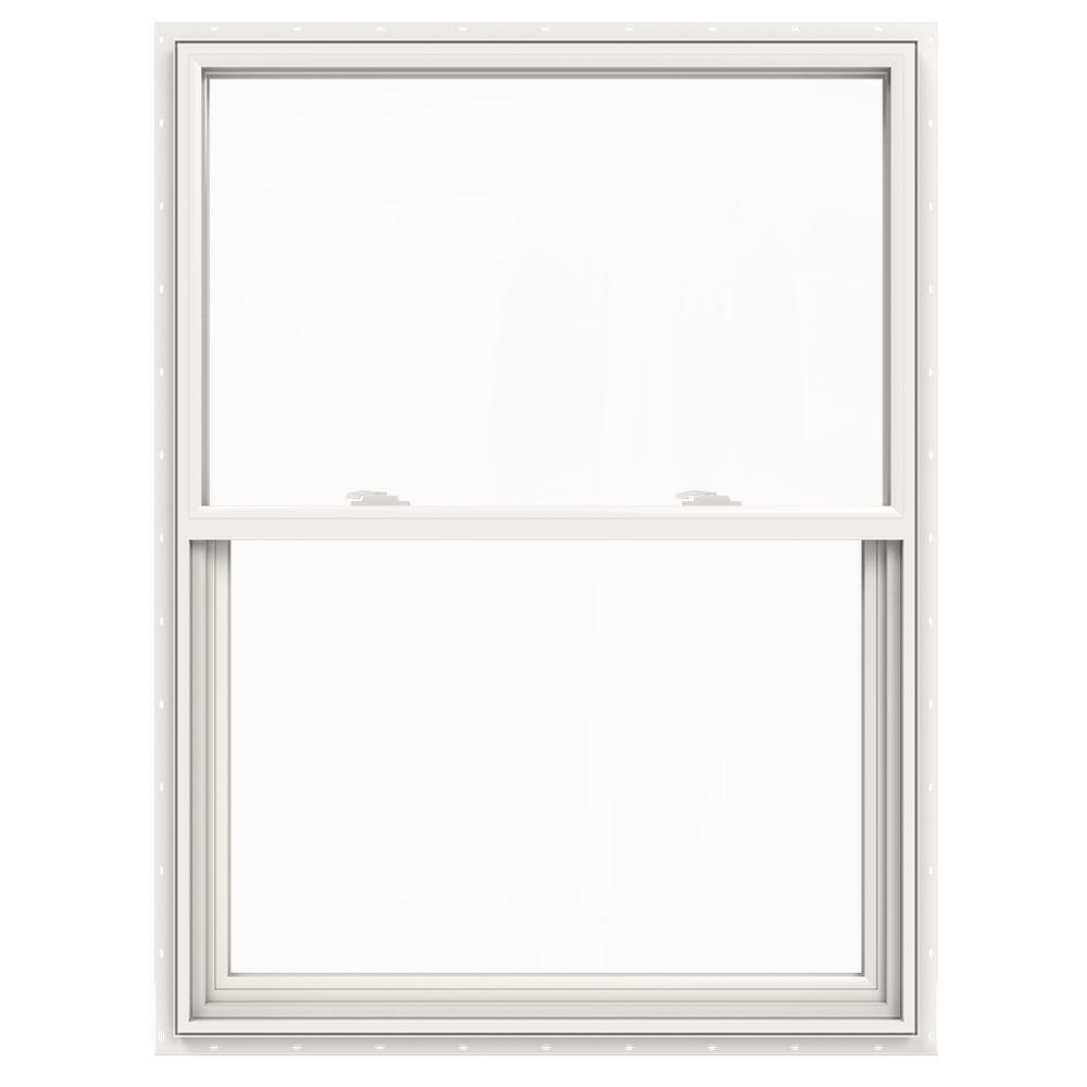JELD-WEN 36 in. x 48 in. V-2500 Series Single Hung Vinyl Window - White