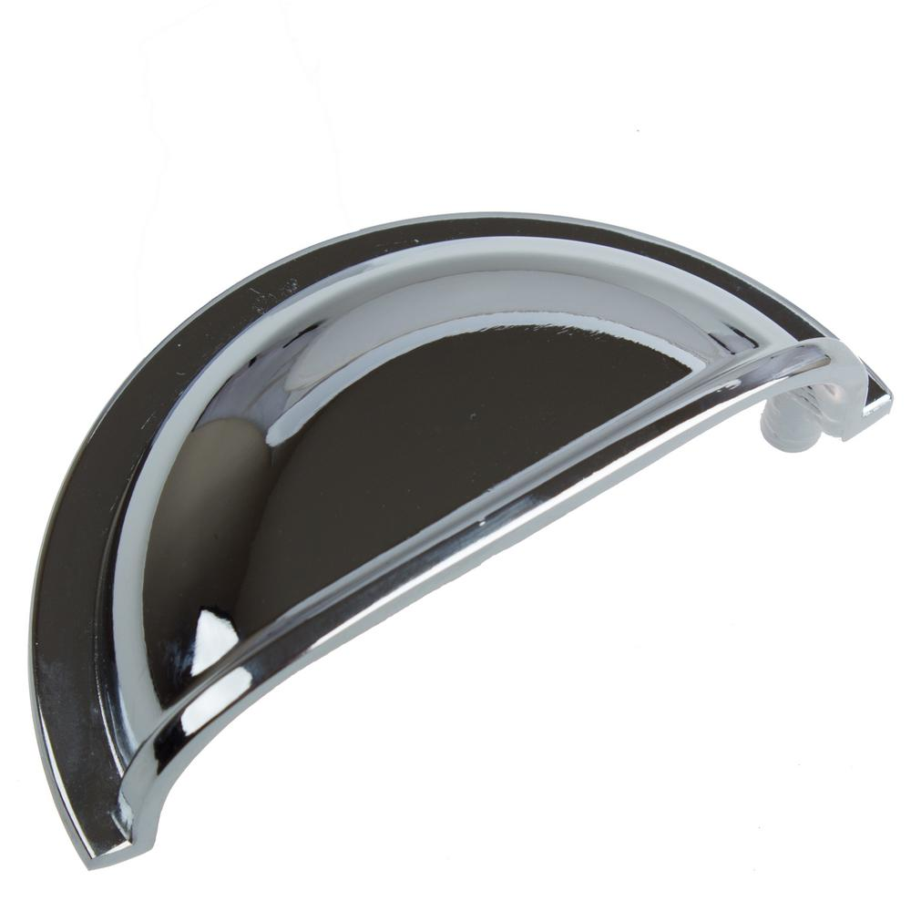 3 in. Center to Center Polished Chrome Classic Bin Cabinet Pulls