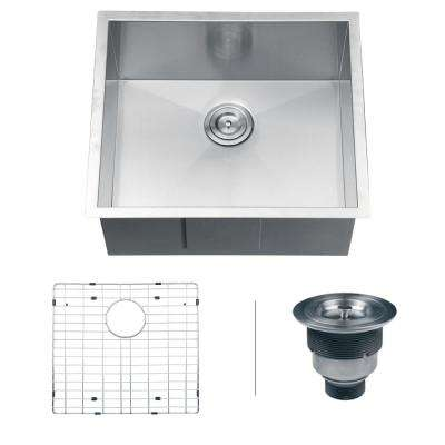 23 in. Undermount 16-Gauge Stainless Steel Single Bowl Kitchen Sink