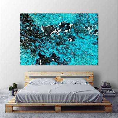 """48 in. x 72 in. """"Rust Ocean IV"""" by Jean-Franois  Dupuis Printed Framed Canvas Wall Art"""