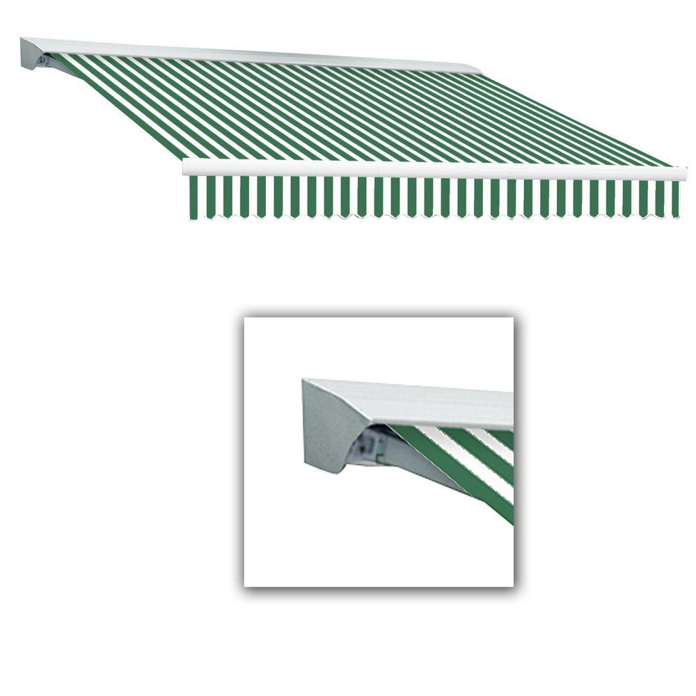 20 ft. LX-Destin with Hood Right Motor/Remote Retractable Acrylic Awning (120