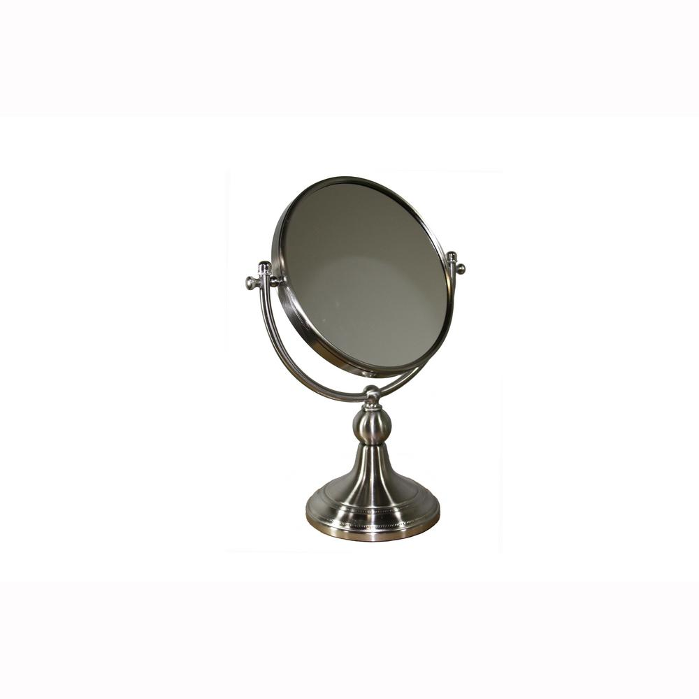 5.5 in. x 14 in. Free Standing Round X5 Magnify Mirror