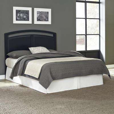prescott black king headboard