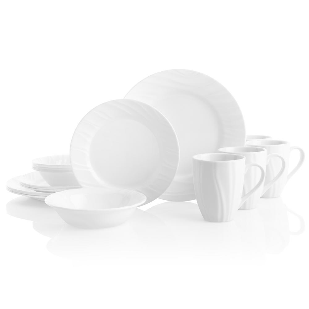 Corelle Boutique 16-Piece Swept Dinnerware Set 1107873