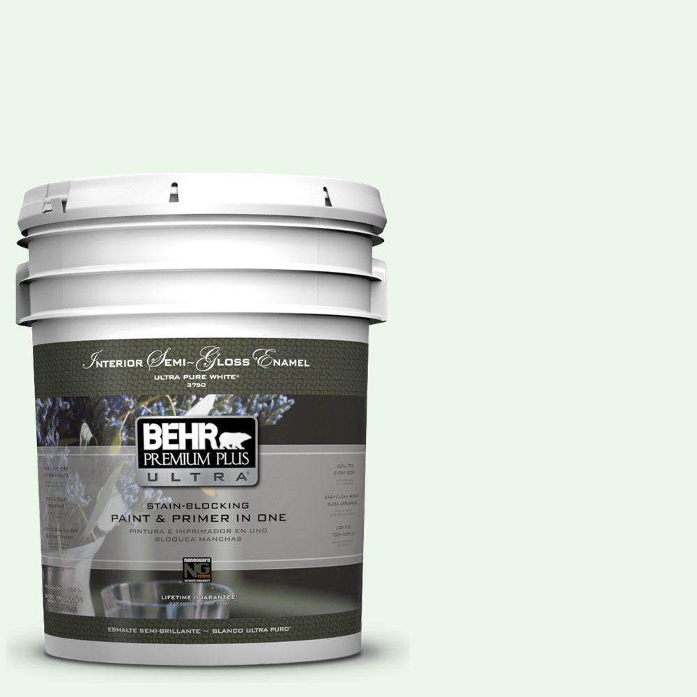 5 gal. #440A-1 Parsnip Semi-Gloss Enamel Interior Paint and Primer in